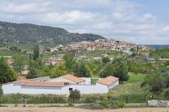 Fuentespalda (Teruel, Ισπανία) Στοκ Εικόνες