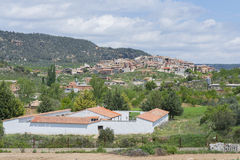 Fuentespalda (Teruel, Spain). View of the village: Fuentespalda (Teruel, Spain stock images