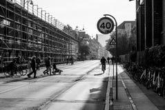 Fuera de Christiania, Copenhague, Dinamarca Imágenes de archivo libres de regalías
