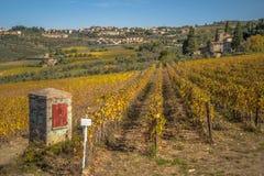 Fuera de la ciudad de Chianti, Toscana Italia Imagen de archivo