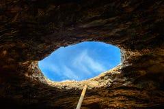 Fuera de la cueva Imágenes de archivo libres de regalías