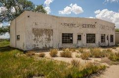 Fuera de la gasolinera del negocio Imagen de archivo