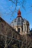 Fuera de la iglesia de St Agustín - París Imagenes de archivo