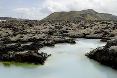 Fuera de la laguna azul fotografía de archivo libre de regalías