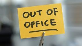 Fuera de oficina Foto de archivo