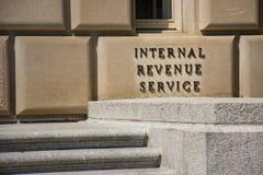 Fuera del IRS en Washington DC imagen de archivo libre de regalías