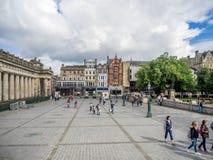 Fuera del National Gallery escocés Imágenes de archivo libres de regalías
