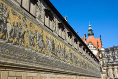 The Fuerstenzug in Dresden Royalty Free Stock Photo
