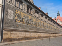Fuerstenzug Procession of Princes in Dresden, Germany Royalty Free Stock Photography