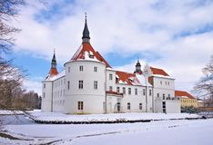 Fuerstlich Drehna palace in winter Royalty Free Stock Images