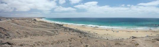 Fuertaventura El Cortillo widok Fotografia Royalty Free