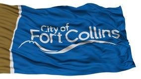 Fuerte aislado Collins City Flag, los Estados Unidos de América Imagenes de archivo