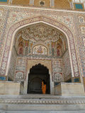 Fuerte ambarino en Jaipur, la India Imagen de archivo libre de regalías