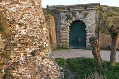 Fuerte antiguo Rammekens, Países Bajos del mar de la entrada imagenes de archivo
