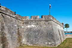 Fuerte Castillo de San Marcos, St Augustine, la Florida, los E.E.U.U. Imagen de archivo