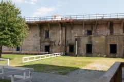 FUERTE CIUDAD DE DELAWARE, DELAWARE, DE - 1 DE AGOSTO: Parque de estado de Delaware del fuerte, fortaleza histórica de la guerra  Imágenes de archivo libres de regalías
