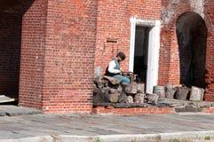 FUERTE CIUDAD DE DELAWARE, DELAWARE, DE - 1 DE AGOSTO: Parque de estado de Delaware del fuerte, fortaleza histórica de la guerra  Fotografía de archivo