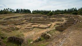 Fuerte céltico de la colina de la edad de hierro, Castro de Viladonga, Galicia, España Imagen de archivo libre de regalías