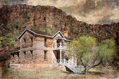Fuerte Davis Texas de los cuartos de los oficiales Imagen de archivo libre de regalías