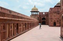 Fuerte de Agra en Agra, la India fotos de archivo