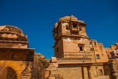 Fuerte de Chittorgarh, Rajasthán, la India Imagen de archivo libre de regalías