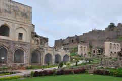 Fuerte de Golconda en Hyderabad Imágenes de archivo libres de regalías