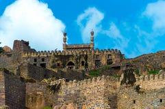 Fuerte de Golconda, Hyderabad - la India imagen de archivo