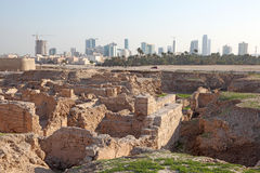 Fuerte de la ruina de Bahrein en Manama, Bahrein imagen de archivo libre de regalías