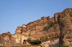 Fuerte de Mehrangarh en Jodphur la India fotografía de archivo
