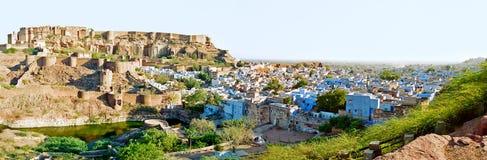 Jodhpur la ciudad azul, Rajasthán la India Imagenes de archivo
