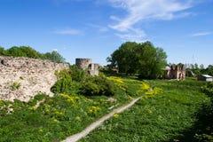 Fuerte de piedra histórico Koporye de la fortaleza Foto de archivo