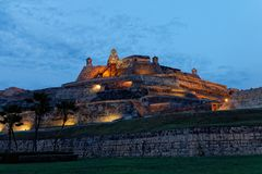 Fuerte de San Felipe de Barajas i Cartagena 3 royaltyfria foton