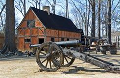 Fuerte del colono, acuerdo de Jamestown, Williamsburg, Virginia fotos de archivo