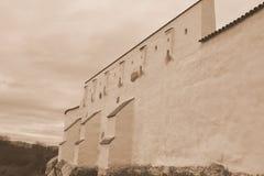 Fuerte en el pueblo Feldioara, construido por los caballeros teutónicos hace 900 años, en Transilvania, Rumania Foto de archivo libre de regalías