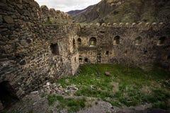Fuerte georgiano histórico de las ruinas del castillo de Khertvisi fotografía de archivo libre de regalías
