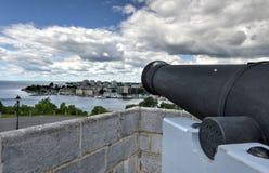 Fuerte Henry National Historic Site Cannon Foto de archivo libre de regalías