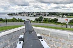 Fuerte Henry National Historic Site Cannon Fotos de archivo
