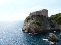 Fuerte Lovrijenac de Dubrovnik del castillo fotografía de archivo libre de regalías