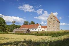 Fuerte medieval en Suecia Foto de archivo