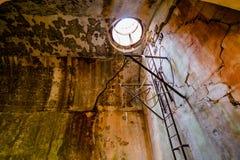 Fuerte militar abandonado cerca de la costa en Croacia Fotografía de archivo libre de regalías