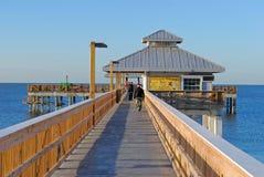 Fuerte Myers Beach Florida Pier imágenes de archivo libres de regalías