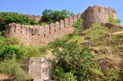 Fuerte Nakhargar en la India Jaipur una construcción histórica Fotografía de archivo