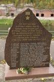 Fuerte 5, piedra conmemorativa en honor de los héroes del Unio soviético Fotografía de archivo libre de regalías