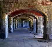 Fuerte Popham, Pippsburg Maine, los E.E.U.U. Fotos de archivo