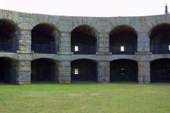 Fuerte Popham, Pippsburg Maine los E.E.U.U. Fotografía de archivo