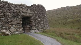 Fuerte prehistórico del druida en Irlanda metrajes