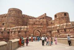 Fuerte rojo Agra Fotos de archivo