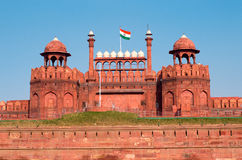 Fuerte rojo en Delhi Fotos de archivo libres de regalías