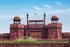 Fuerte rojo (Lal Qila). Delhi, la India Foto de archivo libre de regalías