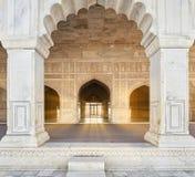 Fuerte rojo situado en Agra, la India Imagen de archivo libre de regalías